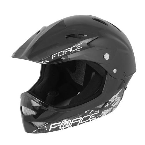FORCE Full Face Helmet Black 54-58cm Κράνος Full-Face